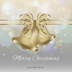 Wishing you the joy and love of this beautiful season -- Merry Christmas with bells and Merry Christmas Vector, Christmas 2015, Bow Vector, Vector Free, Joy, Seasons, Flowers, Beautiful, Peace