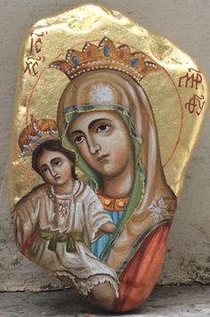Icon on the stone by Jolanta Kuderska