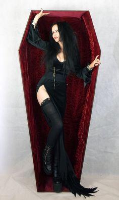 Helvira Dress - Elvira inspired gown by Moonmaiden Gothic Clothing UK