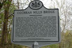 Cochran's Mills Bridge sign - home town of Nellie Bly Steve Schmidt, Nellie Bly, Crooked Creek, Morning Joe, Asylum, Apollo, Family History, Genealogy, Maryland