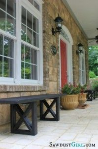 Rustic Porch Bench - 40 Rustic Home Decor Ideas You Can Build Yourself