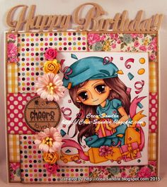 Crea-Sandra Color Card, Hand Coloring, Lunch Box, Paper Crafts, Create, Projects, Cards, Handmade, Log Projects