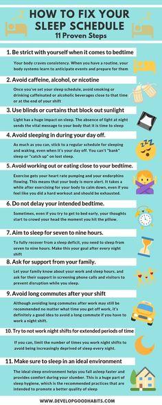 - How to Fix Your Sleep Schedule — 11 Proven Steps How to fix your sleep schedule. — Sleep planning for a better nights sleep. How Can I Sleep, Good Night Sleep, How To Sleep Faster, Fix You, Insomnia Causes, How To Get Better, Sleep Remedies, Sleep Schedule, Healthy Sleep