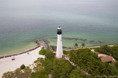 Cape Florida Lighthouse by Anthony May Cape Florida Lighthouse, Key Biscayne, Cn Tower, America, Travel, Trips, Viajes, Traveling, Usa