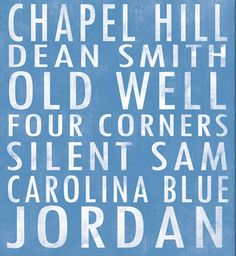 University of North Carolina at Chapel Hill Tar Heels art board