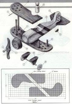 Wooden Biplane Plans - Wooden Toy Plans