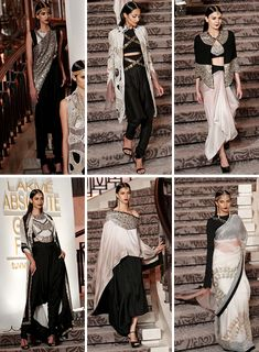 """clothes I wish I had. ➝ Anamika Khanna at Lakme Fashion Week Summer Resort 2015 "" Lakme Fashion Week, India Fashion, Asian Fashion, Indian Attire, Indian Wear, Indian Dresses, Indian Outfits, Kaftan, Indian Couture"