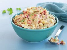 Kremet kyllingsalat Pasta Salad, Potato Salad, Macaroni And Cheese, Nom Nom, Food And Drink, Potatoes, Keto, Ethnic Recipes, Youtube