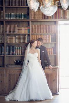 Photo by Olof Elm  Lindström Studio www.lindstromstudio.se  © Copyright Fotograf Jonas Lindström AB  #wedding #love #weddingdress #library
