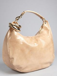 ddffb1b6772 nude patent leather and snakeskin  Solar  bangle hobo Jimmy Choo