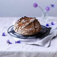 Homemade spelt rye bread with sourdough
