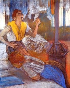 Edgar Degas (French artist, 1834-1917). In a Laundry 1884