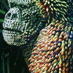 Crayola backed gorilla art by @federicouribeart #designspiration #artsy #art - View this Instagram https://www.instagram.com/Designspiration/