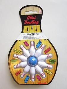 MINI BOWLING 10 Ten Pin table top skittles ball game