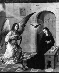 Annonciation | Paredes de Nava[ES], Iglesia de Santa Eulalia | Tejerina, Juan (artiste-peintre) (incertain), Date: 1515 (ca) - 1515 (ca)