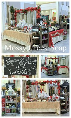 Mistletoe Market in Perry Ga 2015!  Mossy Creek Soap Soap display.    Find us on the web at: mossycreeksoap.com