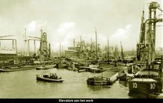 Maashaven Rotterdam (jaartal: 1920 tot 1930) - Foto's SERC Rotterdam Port, Back In Time, Paddle, Netherlands, Holland, New York Skyline, Travel, History, Historical Photos
