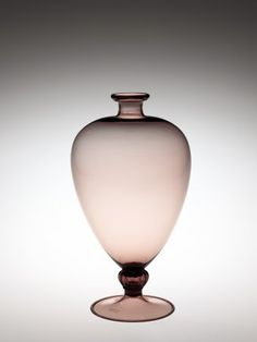 Veronese Vase by Vittorio Zecchin, designed in 1921.   Corning Museum of Glass #glass #Amethyst Glass #vase