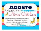 Agosto 2016 Boletín para Niños Católicos: Weekly Mass Acti