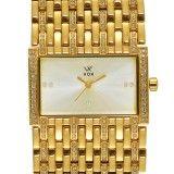 Relógio de pulso feminino em aço Vox Watches com Zircônias