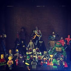 Second floor!! #lego #minifigures #batman #superman #robin #nightwing #batgirl  #riddler #cobblepot #joker #thor #captainamerica #wolverine #hulk #bartsimpson #simpsons #legostagram #legomania #legoland #collection #collectible #legoblock #legophoto by seckinyuksek