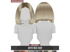 Dua Hair (toddler) by RedheadSims Toddler Hair Sims 4, Toddler Girls, The Sims 4 Bebes, The Sims 4 Skin, The Sims 4 Cabelos, Sims 4 Black Hair, Pelo Sims, Sims 4 Children, Sims 4 Dresses