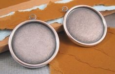 Round 25mm Settings from Trinity Brass in Antique Silver - 2 Count by beadbarnsupplies on Etsy