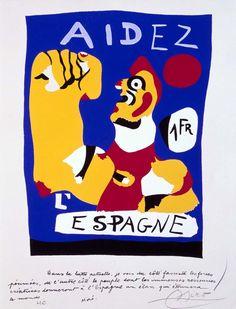 Joan Miró - Aidez L'Espagne (Ayudad a España)