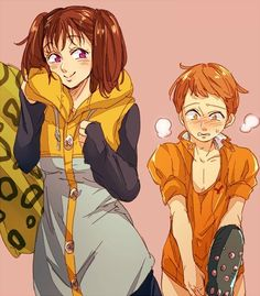 from the story 💛~Parejas De Nanatsu No Taizai~💛 by (𝓂𝑒𝓃𝒹𝑒𝓈) with reads. Anime Seven Deadly Sins, 7 Deadly Sins, Ban E Elaine, King Outfit, Seven Deady Sins, 7 Sins, Happy Tree Friends, Diane, The Seven