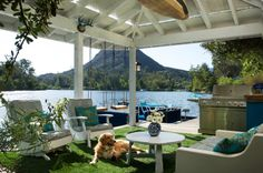 Coastal Style Room of the Day Room of the Day: An Idyllic Lakeside Dock A covered oasis in the Santa Monica Mountains is the perfect sett...