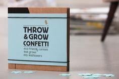 Throw and Grow Confetti! How cool