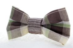 Earth Tones Plaid Clip On Bow Tie by Scrapcycling on Etsy, $20.00