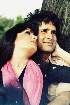 Perveen Babi with Shashi Kapoor in Kaala Patthar
