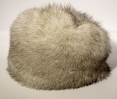 This is a one off, handcrafted hat from the fur of wild Blue Fox, sourced from the medieval forests of Europe.