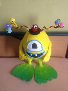 Ballon monster uit papier mache