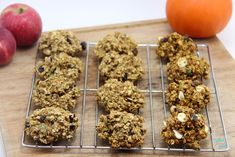 Cherry Pistachio Oatmeal Cookies Left to right: Apple, Banana, and Pumpkin