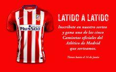 Participa en el Sorteo de cinco Camisetas del Atlético de Madrid Tops, Prize Draw, Athlete, T Shirts, Blue Prints