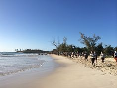 Stunning trail along beach