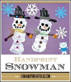 Winter Preschool Craft: Handprint Snowman