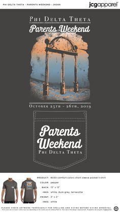Phi Delta Theta Parents Weekend Shirt | Fraternity Parents Weekend | Greek Parents Weekend #phideltatheta #phidelt #Parents #Weekend #arch #hand #drawn #design