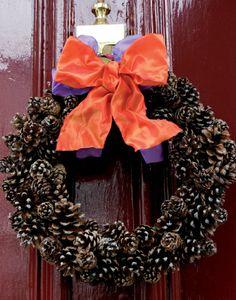 Couronne de porte de Noël Instructions de bricolage...