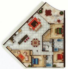 Sims house layout: sample sub penthouse floor plan. Architecture Drawings, Architecture Plan, Floor Plan Drawing, Floor Plan Layout, Apartment Plans, House Blueprints, Sims House, House Layouts, House Floor Plans