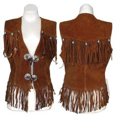 Hippie Style Leather Fringe Vest on Sale for $49.95 at The Hippie Shop