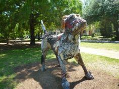 "Carter Ernst Dog Sculpture in ""True North"" Exhibit | Explore Houston With Peggy"