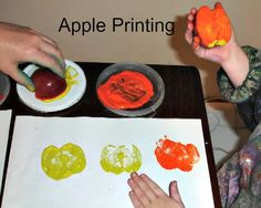 Apple Stamping with Autumn colours and Kid's Co-op