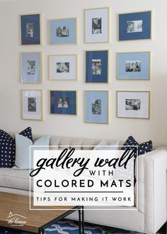 Gallery Wall with Colored Mats - Tips for Making It Work!