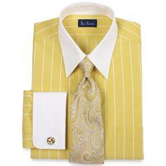 Paul Fredrick End-on-End Stripe Straight Collar French Cuff Dress Shirt Yellow 17.0/34 Paul Fredrick,http://www.amazon.com/dp/B009M9Q36K/ref=cm_sw_r_pi_dp_AEBjrb19WSXJ7MM5