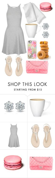 """Coffee Date"" by emily-2024099 ❤ liked on Polyvore featuring Topshop, H&M, Chanel, Casetify and Mitch"