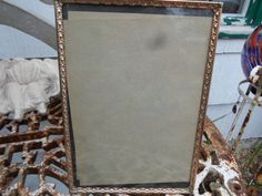Vintage 1950s Gold Tone Metal Picture Frame Self Standing Vertical Or Horizontal…