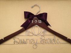 Disney Bride Hanger/ Wedding Hanger/ Cinderella Hanger/ Disney Wedding/ Personalized Hanger/ Bridal Hanger on Etsy, $38.00